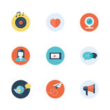 Social network icons flat vector Royalty Free Stock Photos