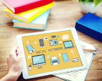 Social Network Icons Graphics Concept Royalty Free Stock Photography