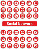 Social Network Icons. Social Network Icon Web Buttons Stock Photos