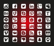 Social Network Icons. Social Network Icon Web Buttons, Vector Stock Images