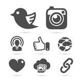 Social network icons isolated on white. Vector royalty free illustration