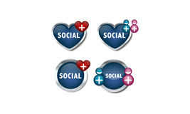 Social network icons. For lot of use Royalty Free Stock Photography