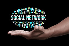 Social network icons. A social networking is a platform to build social networks or social relations among people who share similar interests, activities Royalty Free Stock Images