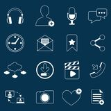 Social network icons outline Stock Photo