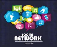 Social network royalty free illustration