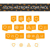 Social network icons pack. Royalty Free Stock Image