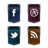 Social network icons set Stock Images