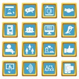 Social network icons azure Stock Photography