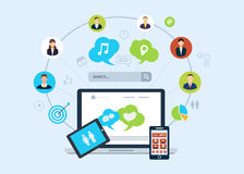Social network icons Royalty Free Stock Image