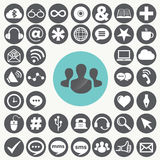 Social network icons set. Stock Images