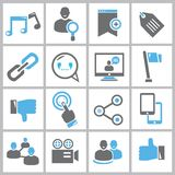 Social network icons Royalty Free Stock Photos