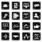 Social network icons set, simple style Royalty Free Stock Images