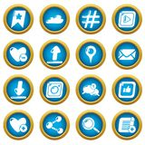 Social network icons set, simple style. Social network icons set. Simple illustration of 16 social network vector icons for web Stock Images