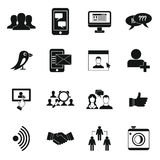 Social network icons set, simple style Royalty Free Stock Image