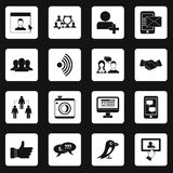 Social network icons set squares vector Royalty Free Stock Photography