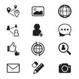 Social network icons set Stock Photos