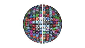 Social Network Icons sphere stock video