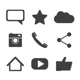 Social network icons Stock Photo