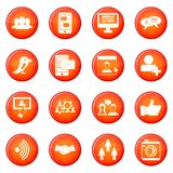 Social network icons vector set Royalty Free Stock Image