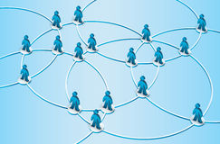 Social network illustration Stock Photos