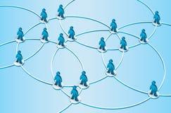 Social network illustration Stock Photos