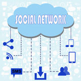 Social network illustration Stock Images