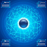Social network infographic abstract background Royalty Free Stock Image
