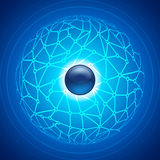Social network infographic abstract background Royalty Free Stock Images