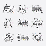 Social network infographic Royalty Free Stock Image