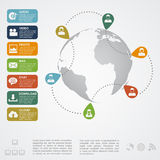 Social network infographic Stock Images