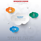 Social network infographics with icons set. vector. illustration Royalty Free Stock Photography