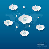 Social network infographics with icons set. vector. illustration Royalty Free Stock Photos