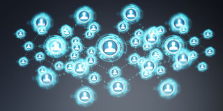 Social network interface 3D rendering Stock Photo