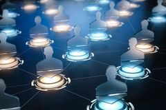 Social network internet communication concept. background. Different people conncected by different ways stock photo