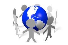 Social network, Internet, global, Earth, people Stock Image