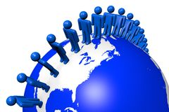 Social network, Internet, global, Earth, people Royalty Free Stock Images