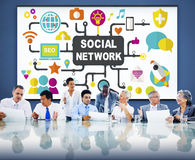 Social Network Internet Online Society Connecting Social Media C. Oncept Royalty Free Stock Photos