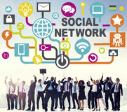 Social Network Internet Online Society Connecting Social Media C Stock Images