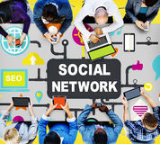 Social Network Internet Online Society Connecting Social Media C Royalty Free Stock Photography