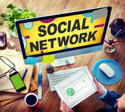 Social Network Internet Online Society Connecting Social Media Royalty Free Stock Photography
