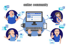 Social network internet page Stock Photography