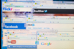 Social network internet sites Royalty Free Stock Images