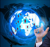 The social network.Internet and  telecommunication Stock Image