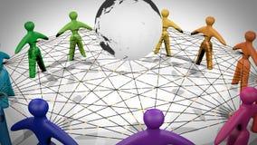 Social network 4k. A 3d representation of a social network