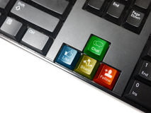 Social network keyboard Royalty Free Stock Photography