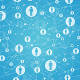 Social network. In lattice points are people icons Royalty Free Stock Photos