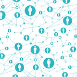 Social network. In lattice points are people icons Stock Image