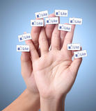 Social network and the like Royalty Free Stock Photography
