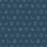 Social network line pattern icon Stock Photo