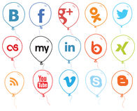 Social Network Logo Balloons Royalty Free Stock Images